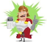 Handsome Superhero Cartoon Vector Character AKA Captain Millennia - Shape4
