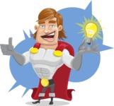 Handsome Superhero Cartoon Vector Character AKA Captain Millennia - Shape5