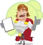 Handsome Superhero Cartoon Vector Character AKA Captain Millennia - Shape6