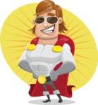 Handsome Superhero Cartoon Vector Character AKA Captain Millennia - Shape7