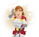 Handsome Superhero Cartoon Vector Character AKA Captain Millennia - Shape8