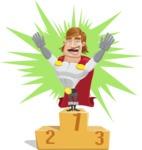 Handsome Superhero Cartoon Vector Character AKA Captain Millennia - Shape9