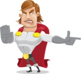 Handsome Superhero Cartoon Vector Character AKA Captain Millennia - Direct Attention2