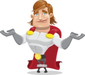 Handsome Superhero Cartoon Vector Character AKA Captain Millennia - Sorry