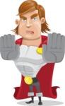 Handsome Superhero Cartoon Vector Character AKA Captain Millennia - Stop2