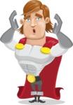 Handsome Superhero Cartoon Vector Character AKA Captain Millennia - Shocked