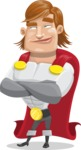Handsome Superhero Cartoon Vector Character AKA Captain Millennia - Patient