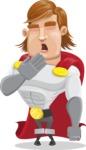 Handsome Superhero Cartoon Vector Character AKA Captain Millennia - Bored