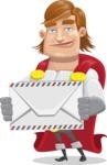 Handsome Superhero Cartoon Vector Character AKA Captain Millennia - Letter