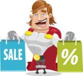 Handsome Superhero Cartoon Vector Character AKA Captain Millennia - Sale2