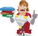 Handsome Superhero Cartoon Vector Character AKA Captain Millennia - Book2