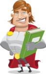 Handsome Superhero Cartoon Vector Character AKA Captain Millennia - Book3