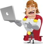 Handsome Superhero Cartoon Vector Character AKA Captain Millennia - Laptop1