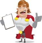 Handsome Superhero Cartoon Vector Character AKA Captain Millennia - Notepad1