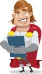 Handsome Superhero Cartoon Vector Character AKA Captain Millennia - Notepad2