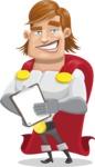 Handsome Superhero Cartoon Vector Character AKA Captain Millennia - Notepad4