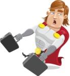 Handsome Superhero Cartoon Vector Character AKA Captain Millennia - briefcase3
