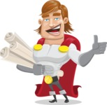 Handsome Superhero Cartoon Vector Character AKA Captain Millennia - Plans