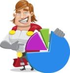 Handsome Superhero Cartoon Vector Character AKA Captain Millennia - Chart