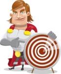 Handsome Superhero Cartoon Vector Character AKA Captain Millennia - Target