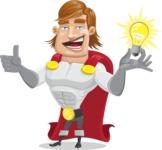 Handsome Superhero Cartoon Vector Character AKA Captain Millennia - Idea1