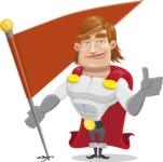Handsome Superhero Cartoon Vector Character AKA Captain Millennia - Checkpoint