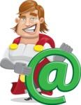 Handsome Superhero Cartoon Vector Character AKA Captain Millennia - Email