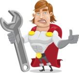 Handsome Superhero Cartoon Vector Character AKA Captain Millennia - Repair