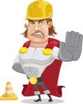 Handsome Superhero Cartoon Vector Character AKA Captain Millennia - Under Construction1