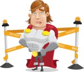 Handsome Superhero Cartoon Vector Character AKA Captain Millennia - Under Construction2
