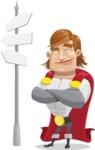 Handsome Superhero Cartoon Vector Character AKA Captain Millennia - Crossroad