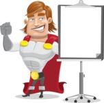 Handsome Superhero Cartoon Vector Character AKA Captain Millennia - Presentation1