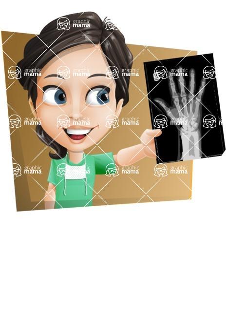 Female Surgeon Vector Cartoon Character AKA Manuela the Medical Intern - Shape 3