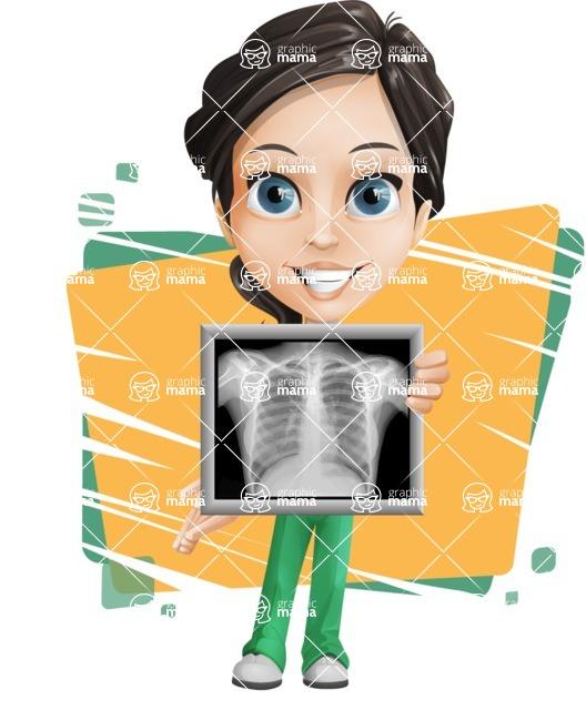 Female Surgeon Vector Cartoon Character AKA Manuela the Medical Intern - Shape 5