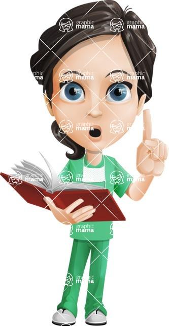 Female Surgeon Vector Cartoon Character AKA Manuela the Medical Intern - Book 2