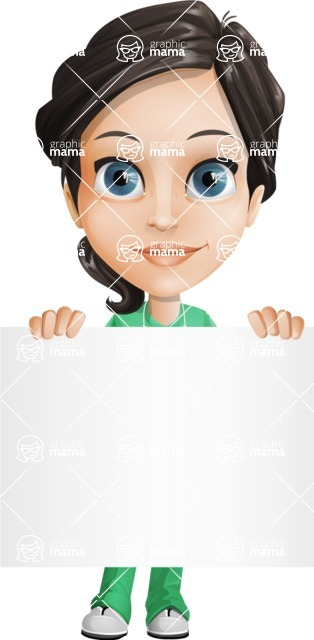 Female Surgeon Vector Cartoon Character AKA Manuela the Medical Intern - Sign 5