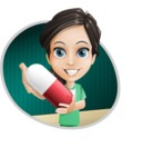 Female Surgeon Vector Cartoon Character AKA Manuela the Medical Intern - Shape 4