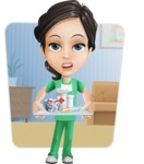 Female Surgeon Vector Cartoon Character AKA Manuela the Medical Intern - Shape 6