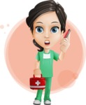 Female Surgeon Vector Cartoon Character AKA Manuela the Medical Intern - Shape 7