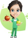 Female Surgeon Vector Cartoon Character AKA Manuela the Medical Intern - Shape 8