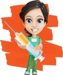 Female Surgeon Vector Cartoon Character AKA Manuela the Medical Intern - Shape 12