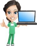 Manuela the Medical Intern - Laptop 2