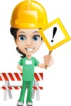 Female Surgeon Vector Cartoon Character AKA Manuela the Medical Intern - Construction