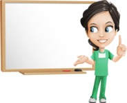 Female Surgeon Vector Cartoon Character AKA Manuela the Medical Intern - Presentation 3