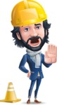 Stylish Man Cartoon Character: Classic Blue Edition 2020 - as a Construction worker