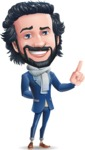 Stylish Man Cartoon Character: Classic Blue Edition 2020 - Making a point