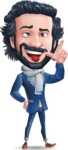 Stylish Man Cartoon Character: Classic Blue Edition 2020 - Making Funny face