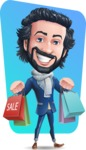 Stylish Man Cartoon Character: Classic Blue Edition 2020 - Shape 12
