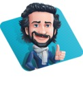Stylish Man Cartoon Character: Classic Blue Edition 2020 - Shape1