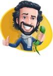 Stylish Man Cartoon Character: Classic Blue Edition 2020 - Shape4